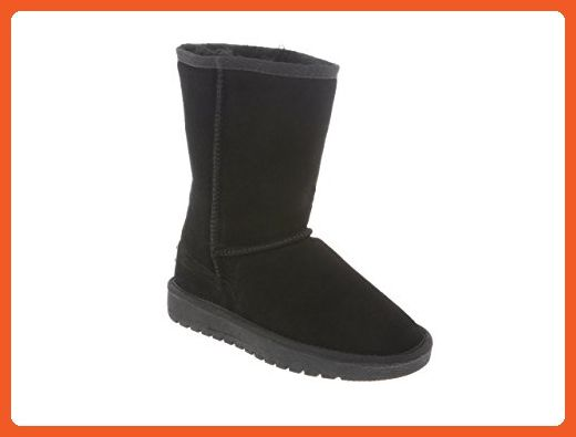 RJ's Fuzzies Women's Sheepskin Boot 6 Black - Boots for women (*Amazon Partner-Link)