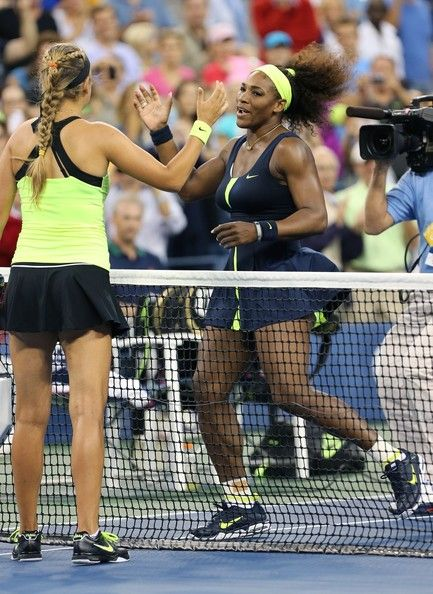 September 9, 2012. Serena Williams wins the US Open, beating Victoria Azarenka of Belarus, in 3 sets, 6/2, 2/6 and 7/5, at Arthur Ashe Stadium. The US Open is the fourth and last tennis Grand Slam of the season and is held at the USTA Billie Jean King National Tennis Center in New York.