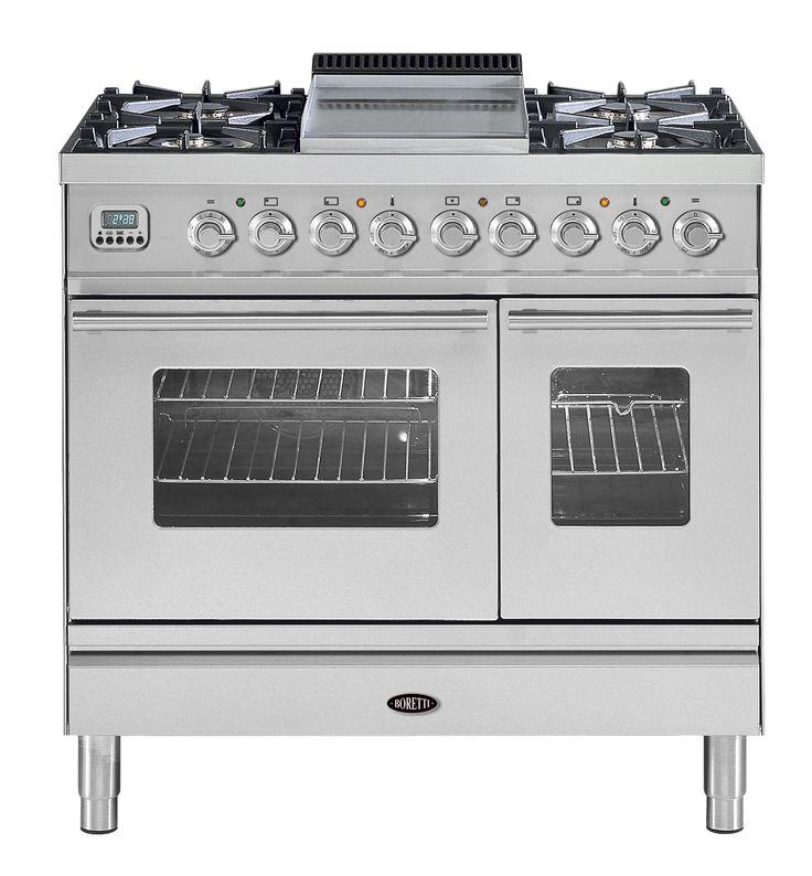 Linea Principale fornuis 90cm dubbele oven - Boretti