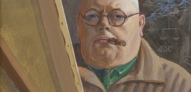 A SELF-PORTRAIT OF ERIC O. W. EHRSTRÖM FROM 1933 – DURING THE PERIOD AFTER HIS LOSING HIS RIGHT HAND, more: http://www.serlachius.fi/en/collections/pearl-of-the-month/6-a-self-portrait-of-eric-o-w-ehrstrom/