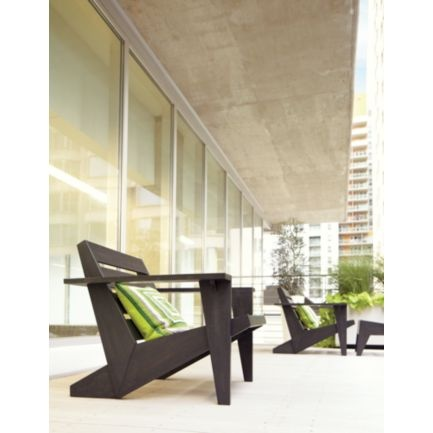 The contemporary Adirondack chair by CB2, perfect for any urban cottage garden.