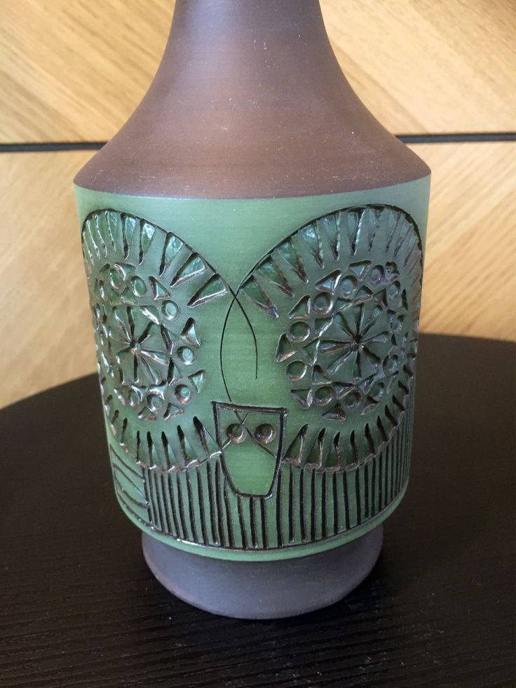 Scandinavian/table lamp/alingsås/alingsas pottery/owl lamp/midcentury modern/greenery by WifinpoofVintage on Etsy