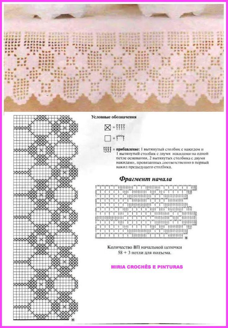 MIRIA CROCHÊS E PINTURAS: PONTILHAS DE CROCHÊ DE FILÉ N° 701