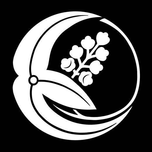 一つ澤瀉の丸 ひとつおおだかのまる Hitotsu omodaka no maru. The design of water plantain.