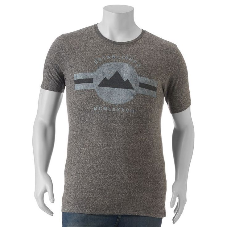 """Big & Tall SONOMA Goods for Life™ """"Established 1988"""" Roman Numerals Tee, Oxford"""