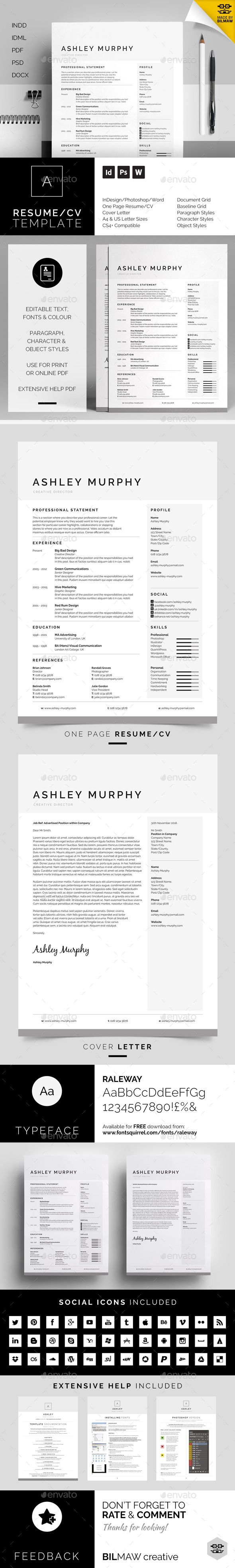 Resume/CV - Ashley Template #design Download: http://graphicriver.net/item/-resumecv-ashley/11408878?ref=ksioks