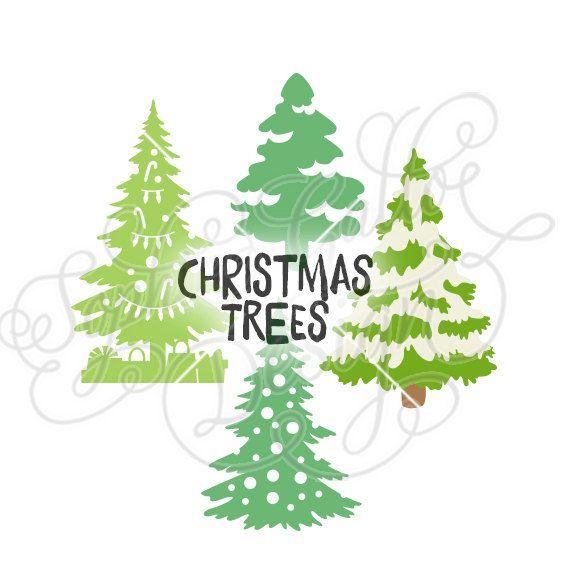Download Christmas Trees Design, SVG DXF digital download file ...