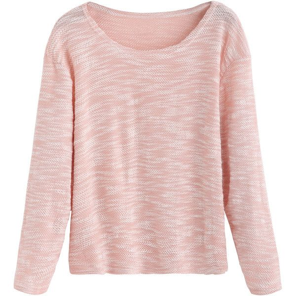 Pink Slub Long Sleeve T-shirt ($6.99) ❤ liked on Polyvore featuring tops, t-shirts, pink, sweaters, long sleeve stretch tee, stretch t shirt, round neck t shirts, polyester t shirts and sleeve t shirt