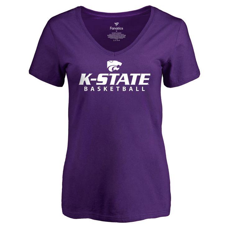 Kansas State Wildcats Women's Kansas State Basketball Slim Fit T-Shirt - Purple