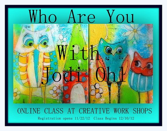 SALE  Save 30 dollars Who Are You Online painting by JodiOhl, $25.00 sale through January 12th, 2014!