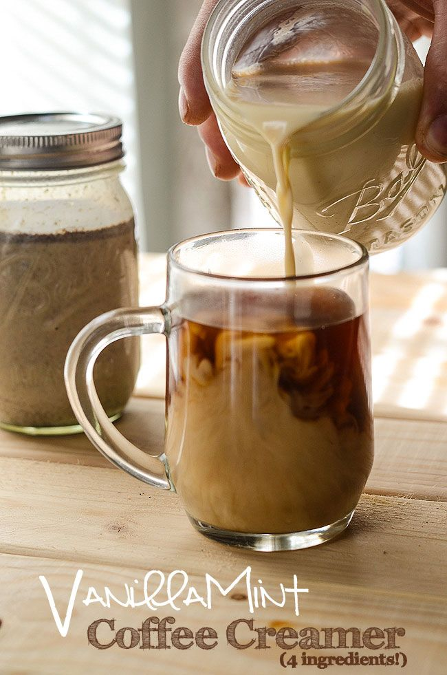 Have you ever wanted to try making your own coffee creamer? Try this recipe for Vanilla Mint Coffee Creamer | My Cooking Spot