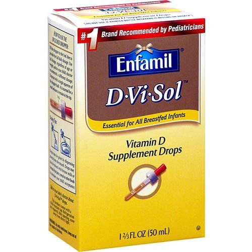 Enfamil D Vi Sol Vitamin with Dropper. This is a great for breast feeding moms and was recommended by my daughter's pediatrician