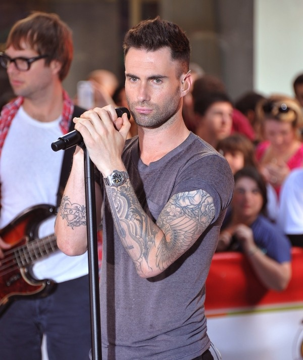 Mmm his tattoos are fly beauty 39 s in the eye of the for Maroon 5 tattoos hindu