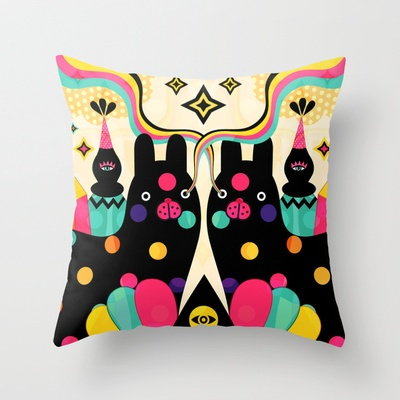 Magical Friends Throw Pillow by Muxxi - $20.00