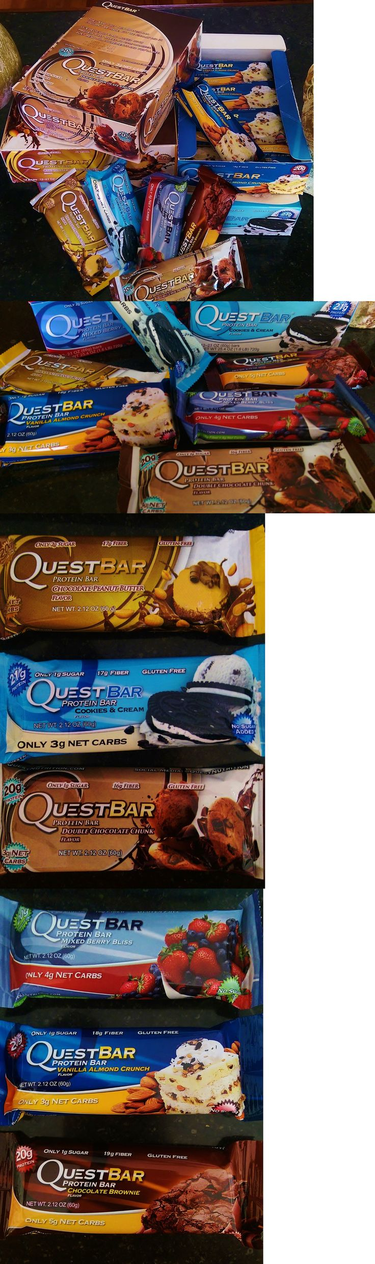 Energy Bars Shakes and Drinks: Quest Protein Bars - 5 Boxes - $117.50/-10 For 228.30 Free Priority Shipping BUY IT NOW ONLY: $117.5