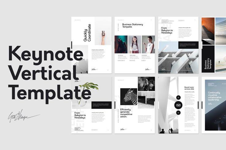 Vertical Keynote Presentation Template