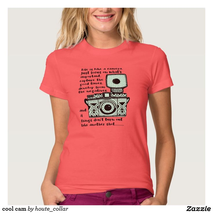 cool cam t shirt $34.65 per shirt Artwork designed by houte_collar