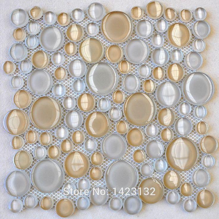 Glass Pebble Tile Sheets Penny Round Glass Tile Backsplash