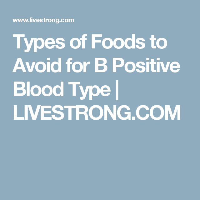 Types of Foods to Avoid for B Positive Blood Type | LIVESTRONG.COM