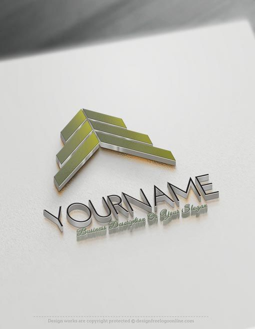 Create a Logo Free - Construction logo templates Readymade Construction logo templates decorated with an image of modern house. This realty logo images and Real Estate logo template are great for Architect, interior designer, Construction logos, Contractor, realty Agency, Roofing Contractor, roof repair etc.   How to make your own Construction logo designs? 1- Easily customize this brand yourself with our free Logo maker app. Create your own logos without