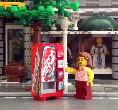 Lego City Custom Town Train Coca Cola Vending Machine Made from Lego R 10218 | eBay