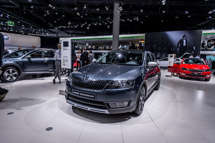 With the new special model ŠKODA Rapid Spaceback ScoutLine, ŠKODA is fulfilling the customer wish for individually designed versions and is presenting its compact hatchback model with a special outdoor design.  It is a motor show premiere for the Rapid Spaceback ScoutLine. ScoutLine is front-wheel drive car #SKODAIAA #RAPIDSPACEBACK #SKODA