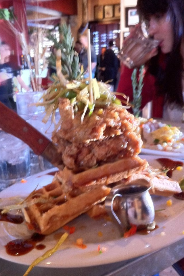 Hash House A Go Go in Las Vegas has great food! I ate here too!! Awesome food!