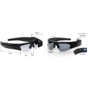 Active i Video Recording Sunglasses with 1.5-Inch LCD Viewer and 2 GB memory (25200)
