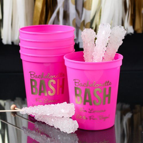 Get the bachelorette bash started!   Personalized Stadium Cups by Beau-coup