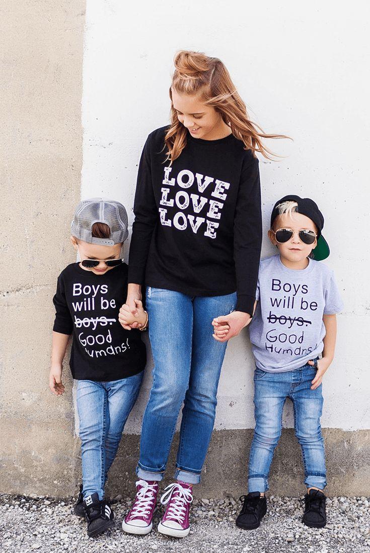 9dcaa80c Boys Will Be Good Humans (TM) Baby / Kids T-Shirt - Free to Be Kids  #fashion #style #mom_fashion