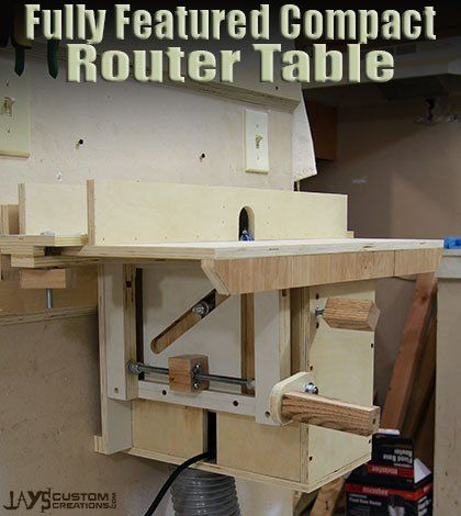 55 best router lifts images on pinterest router lift tools and compact router table with homemade lift free plans greentooth Gallery