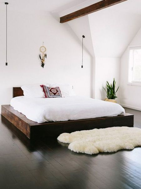 A platform bed is just that - a platform of varying height upon which your bed rests rather than upon a box spring or similar support and bed frame. These have gained popularity due to the surge of memory foam purchases that usually require more of a flat surface for proper support and warranty issues.