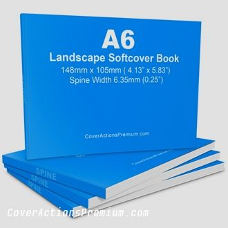 120 Pages A6 Landscape Softcover Book Mockups