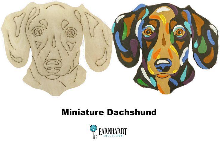 "Short Haired Dachshund DIY Paint Your Own ""Pop Art"" Pet Kit"