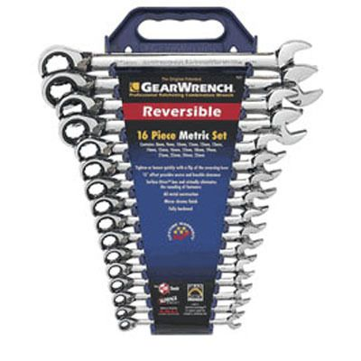 A nice polished set of reversible ratcheting socketing wrenches! These are really convenient for tool enthusiasts and have a lifetime warranty.