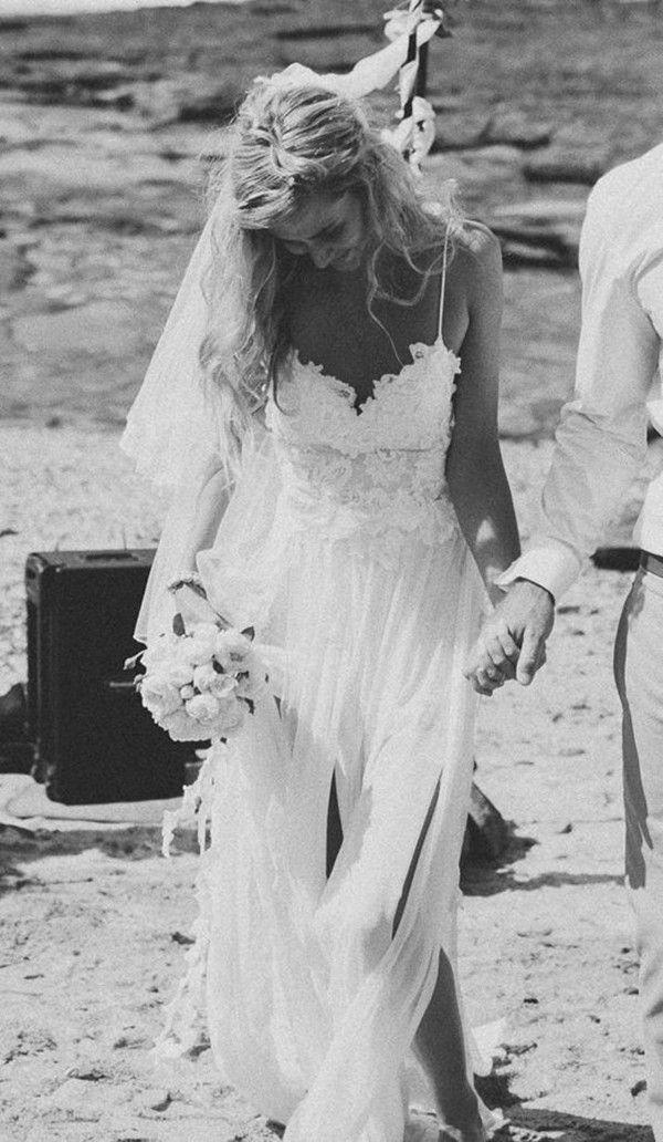 boho beach wedding dress for boho brides