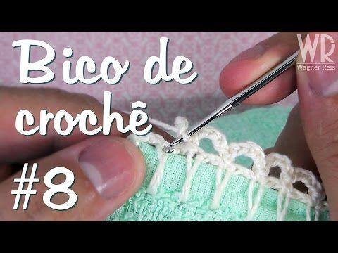 Bico de crochê MEGA fácil e simples para fralda #8 - YouTube