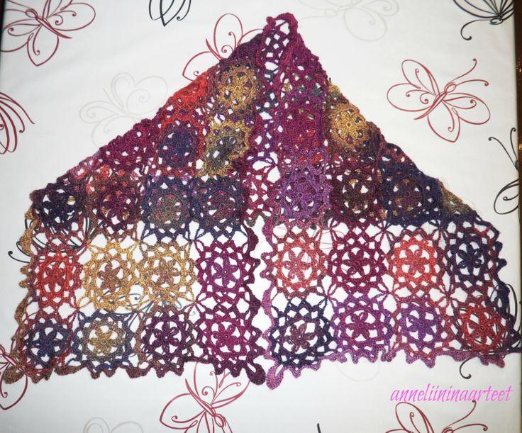 virkattu hartiahuivi- crochet scarf