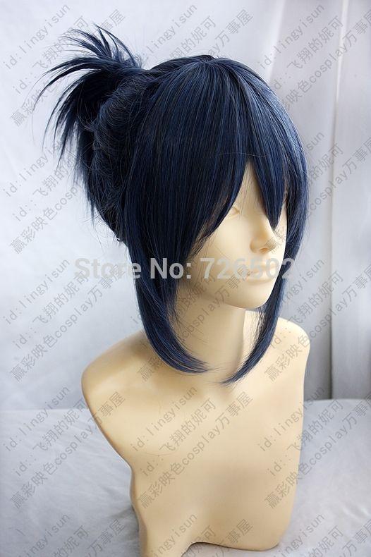 [Сяо мо] № 6 Синий и Серый Короткие Косплей Костюм Парик Nezumi от аниме волос мода парень девушка высокая температура провода