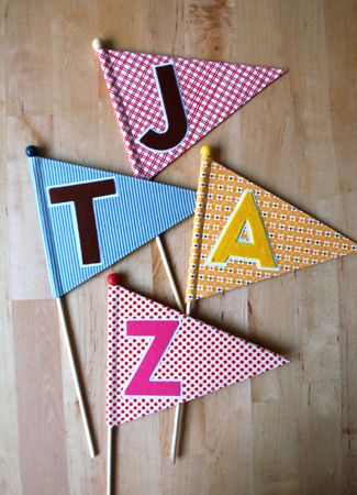"""""""A""""dorable Birthday Pennants with Free Instructions and Template"""