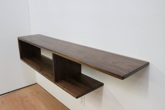 Asymmetrical Wood Floating Entry Table Console Shelf Etsy Console Shelf Console Table Entry Table