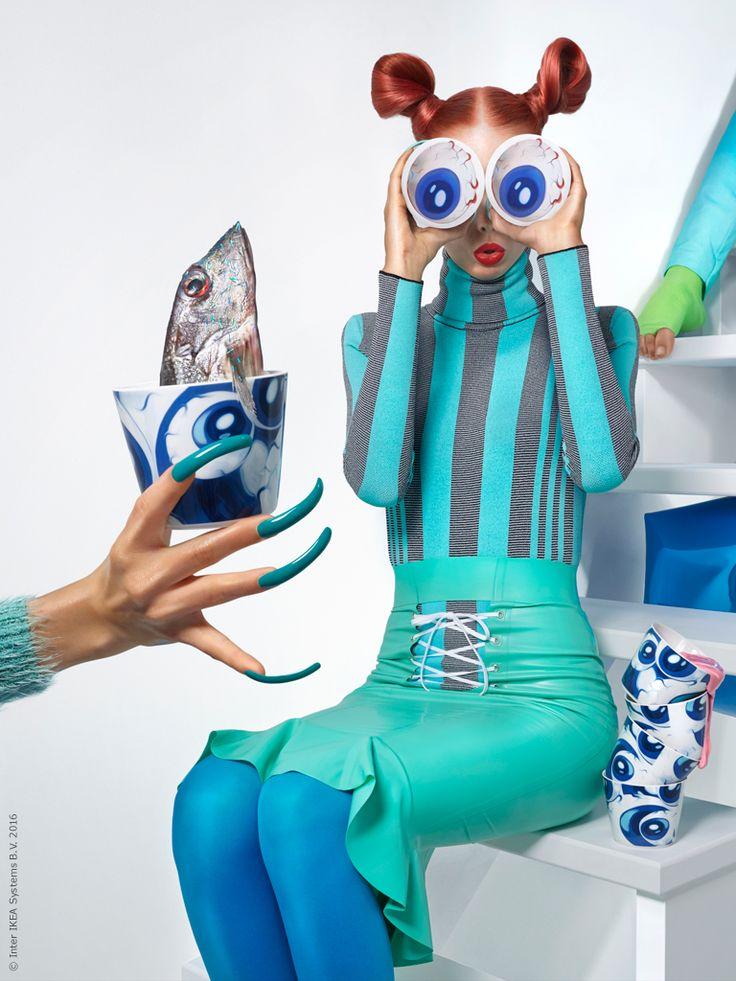 Mode möter inredning! GILTIG mugg. Kollektionen GILTIG är att samarbete med modeskaparen Katie Eary.