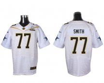 Dallas Cowboys #77 Tyron Smith White 2016 Pro Bowl Elite Jersey