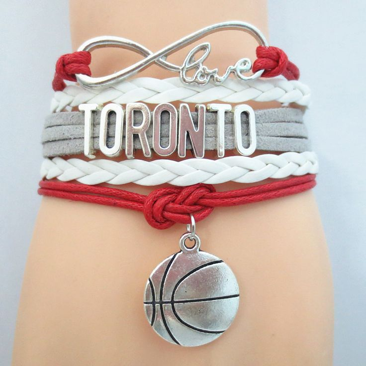Infinity Love Toronto Basketball - Show off your teams colors! Cutest Love Toronto Bracelet on the Planet! Don't miss our Special Sales Event. Many teams available. www.DilyDalee.co