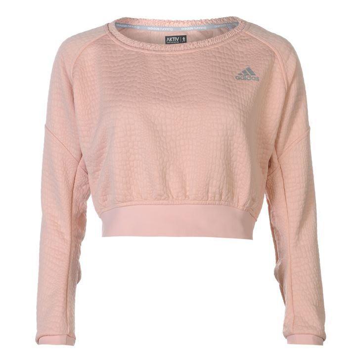 adidas   adidas AKTIV Cropped Pullover Jumper Ladies   Ladies Running Clothing