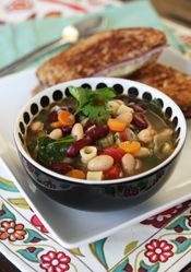 Veggie and Bean Minestrone Soup from Our Best Bites
