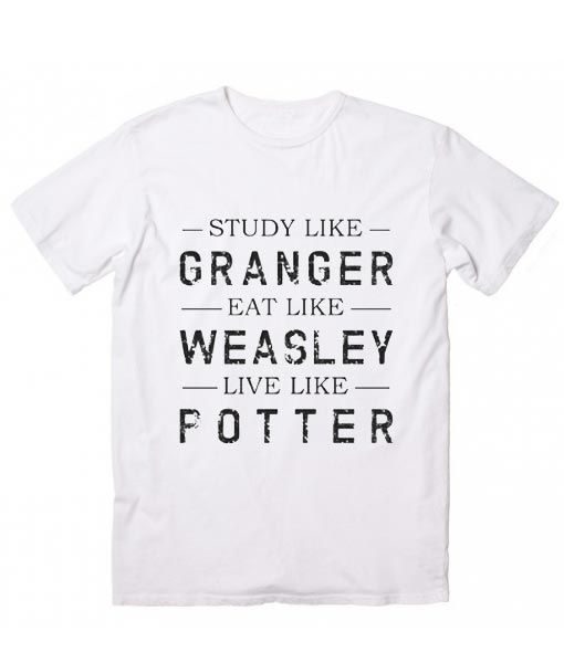 ae056f8e4 Granger Weasley Potter Harry Potter Quotes T-Shirt, Custom T Shirts No  Minimum. Harry Potter T-Shirts, Harry Potter Quote Shirt, Harry Potter  Movie Quotes, ...