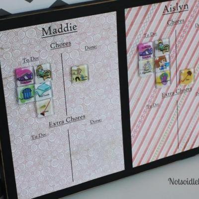 Magnetic Chore Chart {Chore Chart}