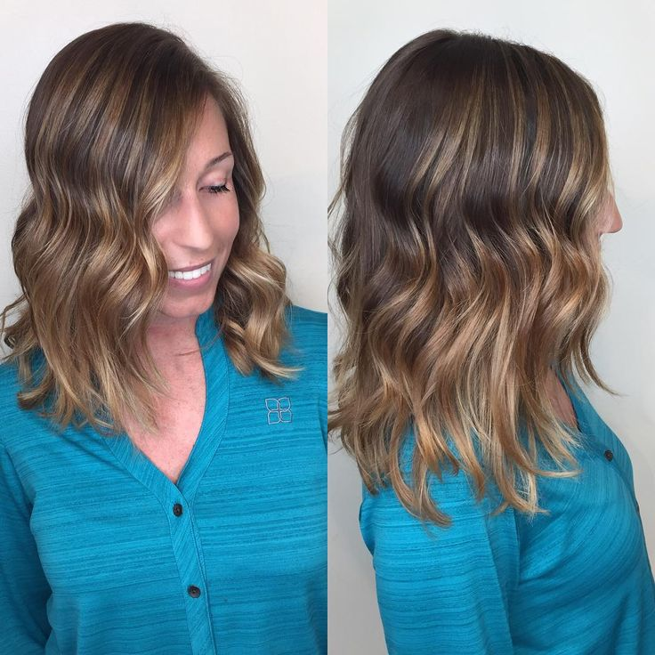 #balayage #caramel #brunette #blonde #highlights #lowlights #hair #beauty click link to see more.