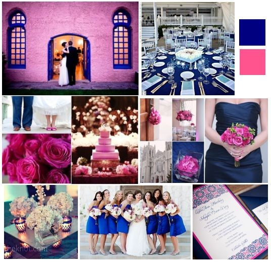 23 Best Navy Blue & Fuschia Wedding Images On Pinterest